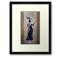 A Creature of Tea and Ink Framed Print