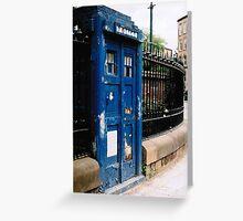 Police Box, Glasgow Greeting Card