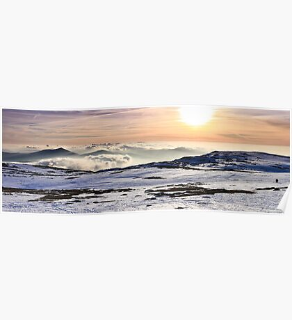 A Vast Sea of Couds on top of a Mountain Poster