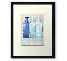 Household Remedies of yester-year Framed Print