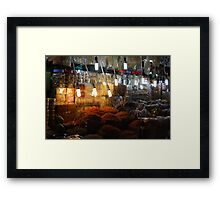 Food Market, Ho Chi Minh City Framed Print