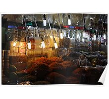 Food Market, Ho Chi Minh City Poster