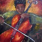 Young Cellist by Monica Vanzant