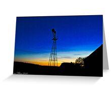 Water Pump at Sunset Greeting Card