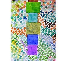 Pile and Mosaic Pattern  Photographic Print
