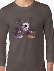 Halloween Pokemon - Pumpkaboo and Woobat Long Sleeve T-Shirt