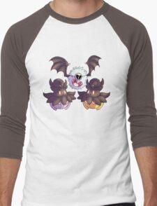 Halloween Pokemon - Pumpkaboo and Woobat Men's Baseball ¾ T-Shirt