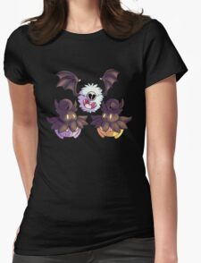Halloween Pokemon - Pumpkaboo and Woobat Womens Fitted T-Shirt