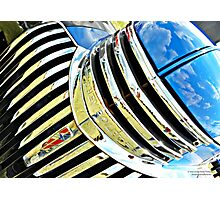 Chrome On The Chevy Photographic Print
