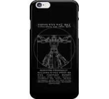 Vitruvian Prime inverted iPhone Case/Skin