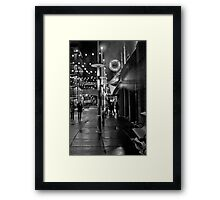 Cold Night in Uptown Framed Print