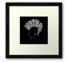 Quilted Punk - Purple Framed Print