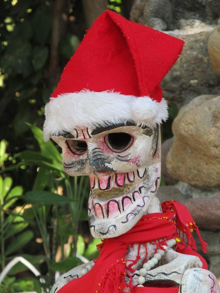 La Catrina as Santa Claus, Puerto Vallarta, Mexico by PtoVallartaMex