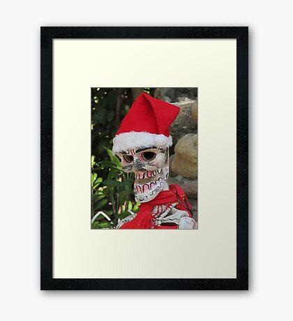 La Catrina as Santa Claus, Puerto Vallarta, Mexico Framed Print