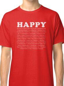 Happy Holidays Classic T-Shirt