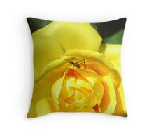 Yellow Rose Visitor Throw Pillow