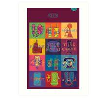 Pick up the Phone! Polyglot Edition Art Print