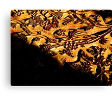 Woodcut Flowers Canvas Print