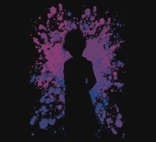 yu yu hakusho hiei paint splatter anime manga shirt by ToDum2Lov3