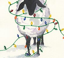 Fleece Navidad (8th in sheep series) by Marsha Elliott