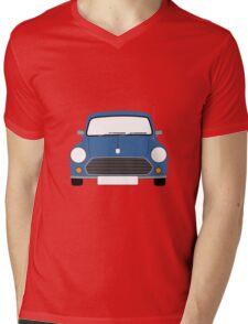 Blue Mini Mens V-Neck T-Shirt