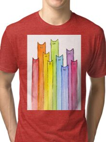 Rainbow of Cats Tri-blend T-Shirt