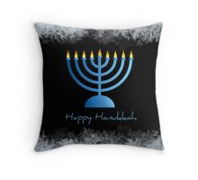 Happy Hanukkah - greeting card Throw Pillow