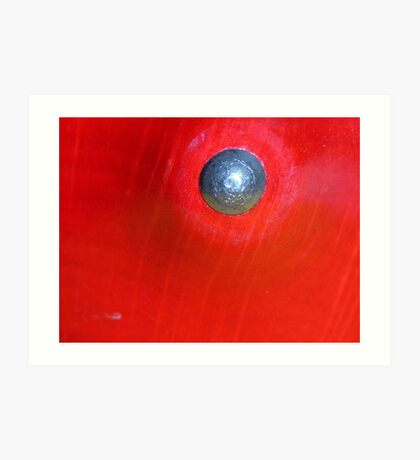 Red Button? Solved ~ Spinning Top ~ Art Print