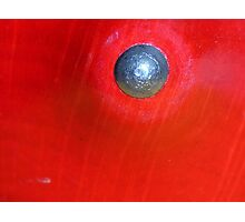 Red Button? Solved ~ Spinning Top ~ Photographic Print