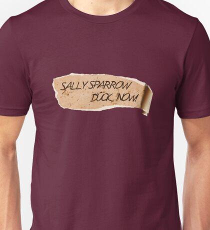 Sally Sparrow, duck now! Unisex T-Shirt