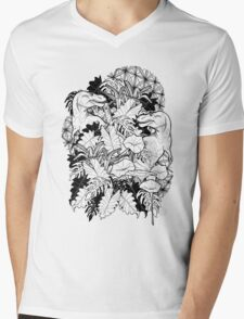 T Rex Mens V-Neck T-Shirt