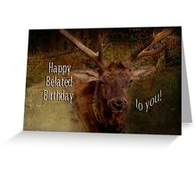 Belated Birthday (for JohnDSmith) Greeting Card