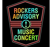 Colorful Rockers Advisory Photographic Print