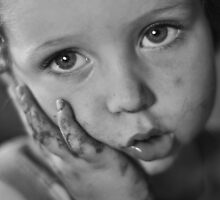 Our Gang: My Child with the high contrast face by Robert Trick Johnston