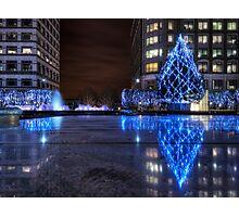 City Christmas Lights Photographic Print