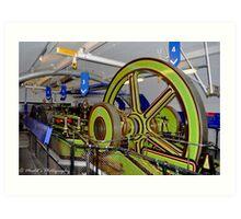 Engineering Wonder behind London's Tower Bridge Art Print