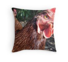 this is my best side of chicken Throw Pillow