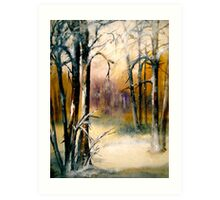 Sleeping...Winter... Art Print