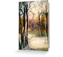Sleeping...Winter... Greeting Card