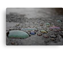 Coloured Waterdrops Canvas Print