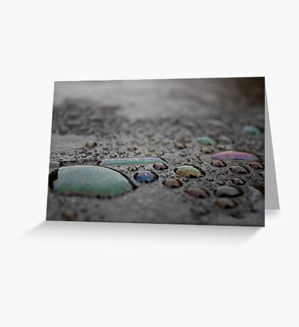 Coloured Waterdrops Greeting Card