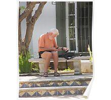 Taking a break - Haciendo una pausa, Puerto Vallarta, Mexico Poster