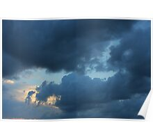 Background of sky with thunderclouds. Poster