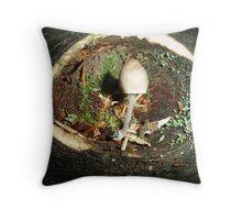 the mushroom habitat  Throw Pillow