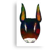 Boo Terrier (black) Canvas Print