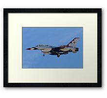 USAF Thunderbird 8 Side Shot Unmarked  Framed Print