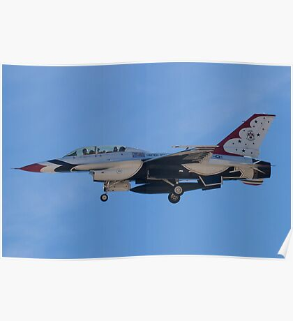 USAF Thunderbird 8 Side Shot Unmarked  Poster