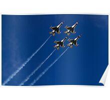 USAF Thunderbird Diamond Clover Loop Poster