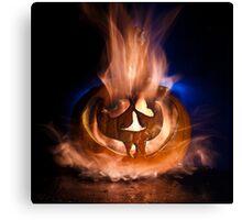 Flaming Pumpkin 2011 Canvas Print