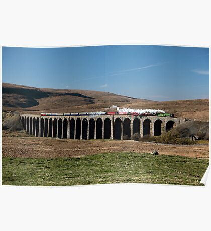 Tornado Steams Across Ribblehead Viaduct Poster